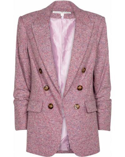 Костюмный розовый шерстяной пиджак Veronica Beard