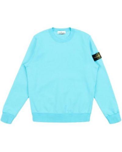 Niebieska bluza długa oversize z długimi rękawami Stone Island