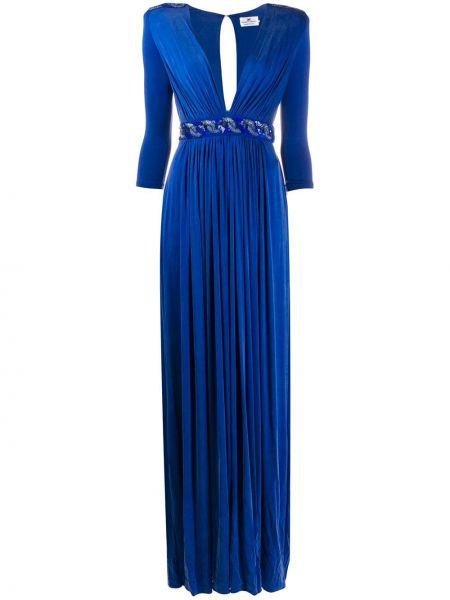 Вечернее платье с пайетками макси Elisabetta Franchi