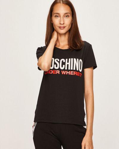 Koszula długo czarny Moschino Underwear