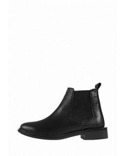 Кожаные ботинки челси - черные Zlett