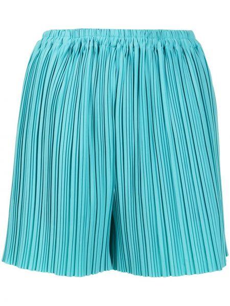 Плиссированные синие шорты эластичные Bambah