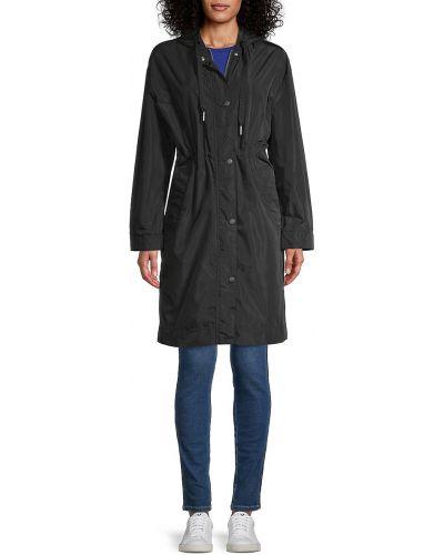 Czarny płaszcz z kapturem Kenzo