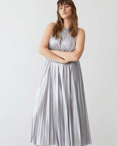 Серебряное повседневное платье Violeta By Mango