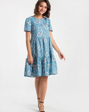 Платье мини с поясом платье-сарафан Mariko