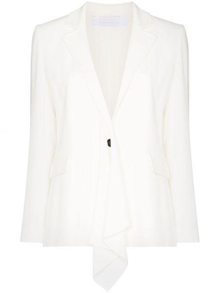 Однобортный белый пиджак с карманами Roland Mouret