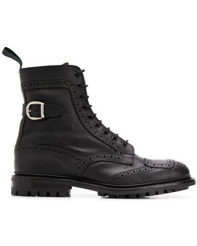 Кожаные ботинки треккинговые на шнуровке Trickers