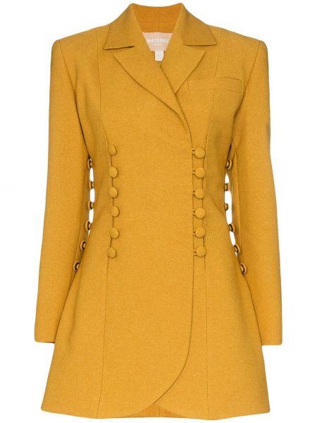 Горчичный пиджак Matériel