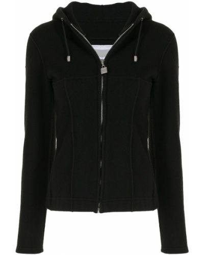 Черная спортивная куртка с капюшоном на молнии Chanel Pre-owned