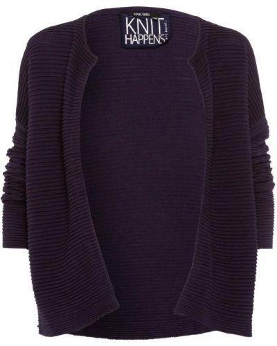 Niebieski sweter z dekoltem w serek Marc Aurel