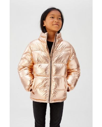 Куртка золотой из золота Mango Kids