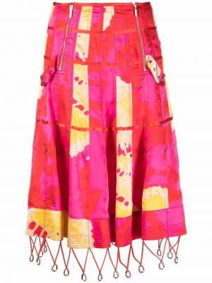 Żółta spódnica rozkloszowana Christian Dior