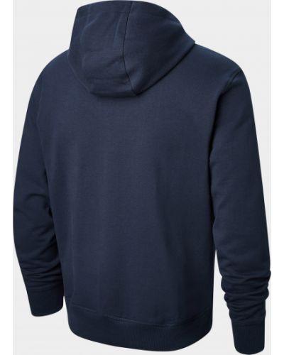 Синий свитер с капюшоном на молнии New Balance
