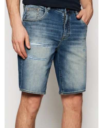 Szorty jeansowe - niebieskie Armani Exchange