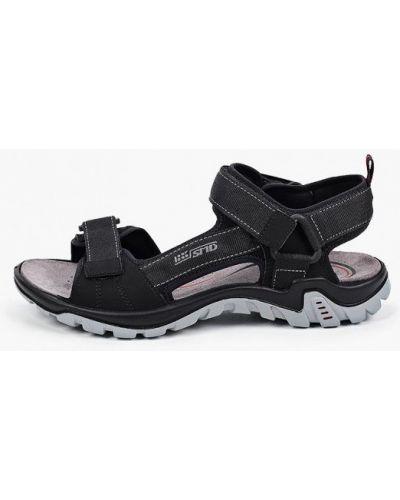 Текстильные черные сандалии Salamander