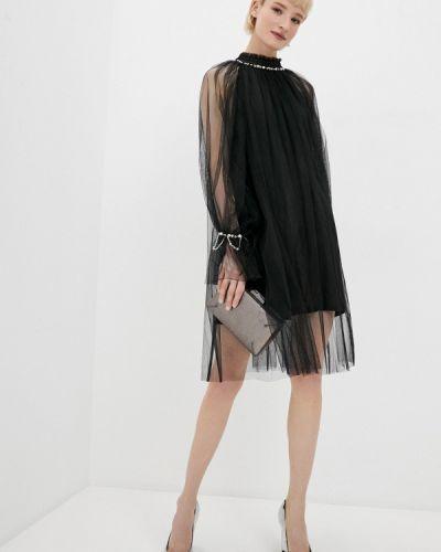Черное вечернее платье Tantra