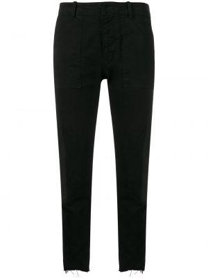 Черные укороченные джинсы с карманами с воротником в стиле бохо Nili Lotan