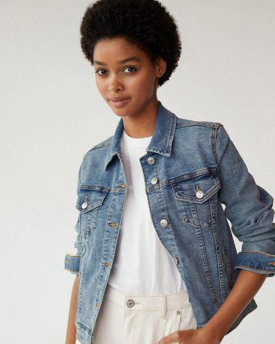 Синяя джинсовая куртка Mango