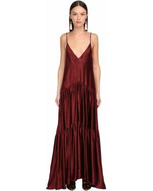 Платье макси на бретелях с V-образным вырезом Forte_forte