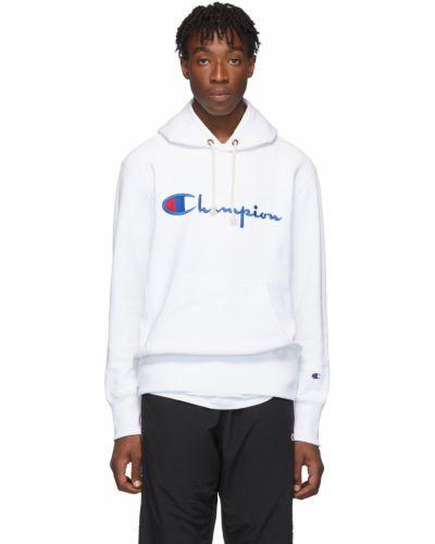 Polar z kapturem - biała Champion Reverse Weave