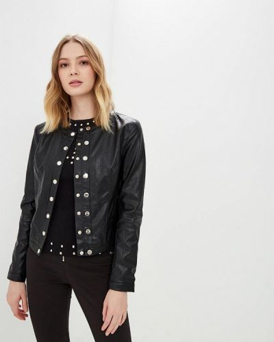 Кожаная куртка весенняя черная Love Republic