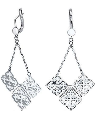 Серебряные серьги удлиненные Silver Wings