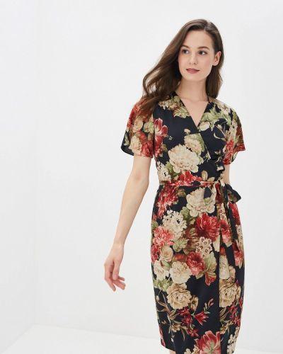 Платье с запахом черное Yuna Style