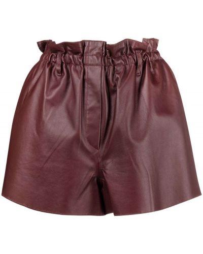 Коричневые кожаные шорты Forte Forte
