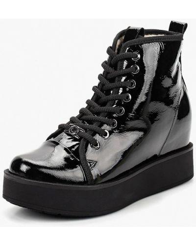 Кожаные ботинки осенние черный Grand Style