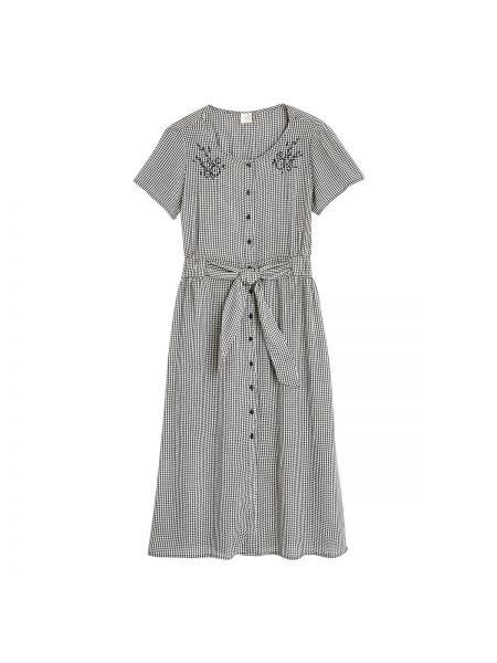 Летнее платье миди с вышивкой La Redoute