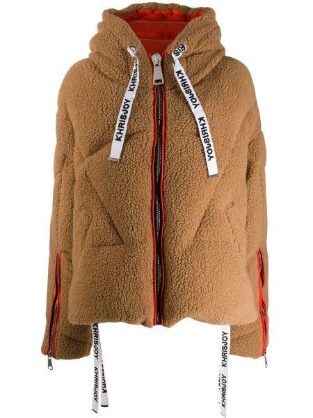 Свободная куртка с капюшоном мятная свободного кроя на молнии Khrisjoy