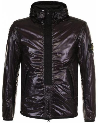 Черная куртка с капюшоном Stone Island