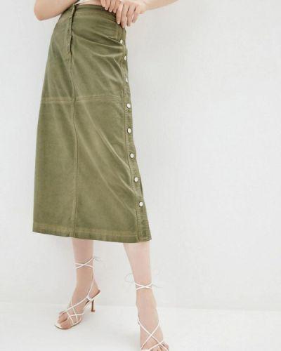 Джинсовая юбка хаки Pinko