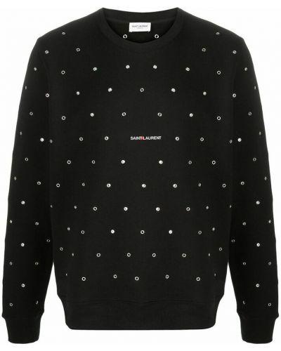 Sweter srebrny - czarny Saint Laurent