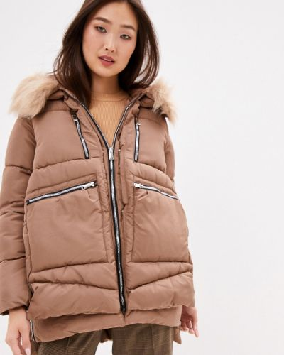 Бежевая теплая куртка Z-design