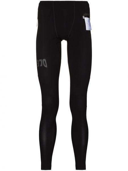 Czarne legginsy z wysokim stanem Satisfy