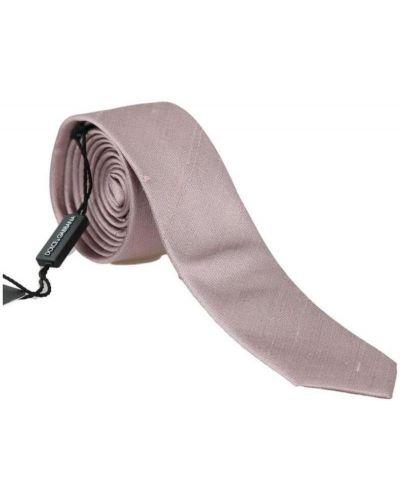 Różowy krawat z jedwabiu Dolce And Gabbana