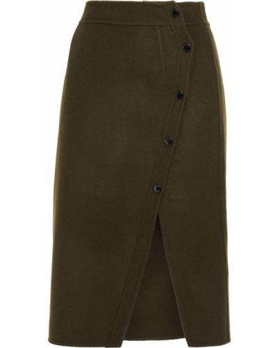 Зеленая шерстяная юбка Sandro
