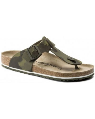Sandały płaskie - zielone Birkenstock