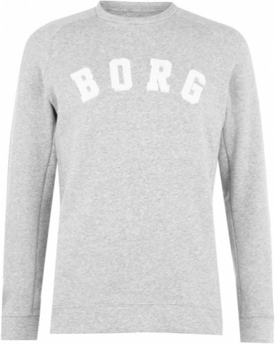 Ciepły długi sweter bawełniany z haftem Björn Borg