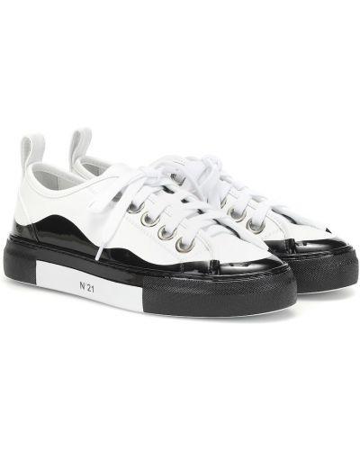 Skórzany sneakersy białe N°21