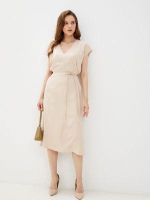 Прямое платье - бежевое Lusio