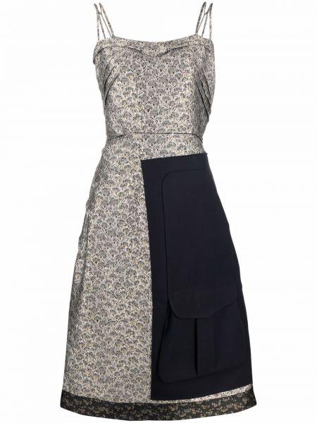 Платье с вышивкой - серое Maison Margiela