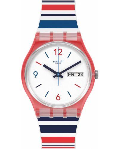 Силиконовые белые часы водонепроницаемые в морском стиле Swatch