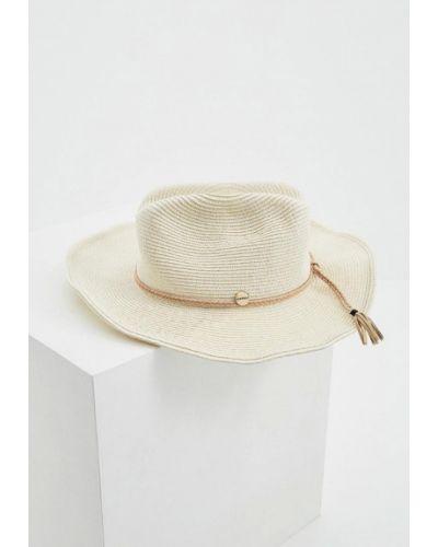 Бежевая шляпа с узкими полями Seafolly Australia