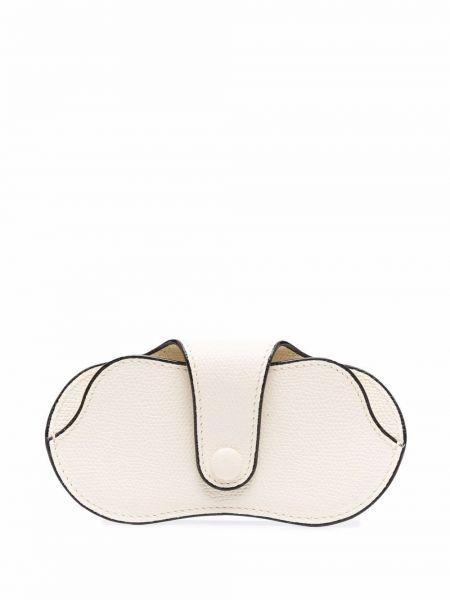 Białe okulary skorzane Valextra