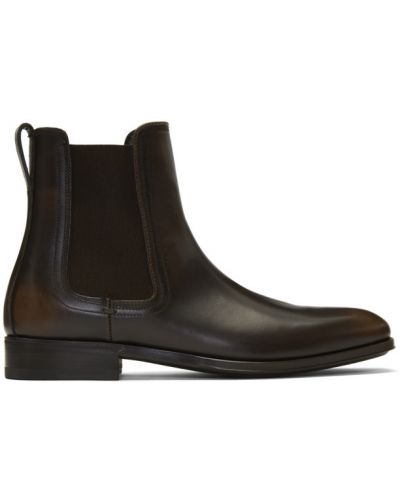 Кожаные ботинки треккинговые коричневый Salvatore Ferragamo