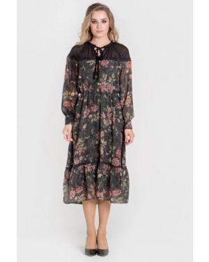 Платье серое прямое Filigrana