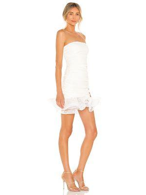 Biała sukienka w grochy Nbd
