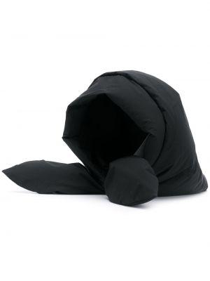 Czarny szalik z kapturem z nylonu Ienki Ienki